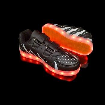 Кросівки світні дитячі Black W81