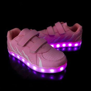 Кросівки з LED підсвіткою дитячі Pink W81