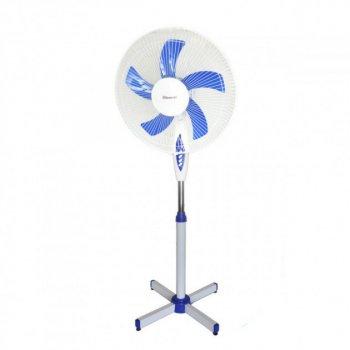 Підлоговий вентилятор Domotec MS-1621 з пультом, таймер, 3 режими Білий (VO2006)