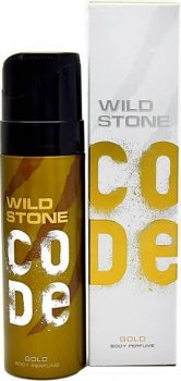 Туалетная вода для мужчин Wild Stone Code Body Perfume Gold 120 мл (8904006306215)