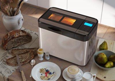 Хлібопічка Gorenje краща домашня хлібопічка з замісом на 12 програм для простого смачного хліба, пироги, кекси, тістечка, паски, паски і джему. Срібляста BM1400ES