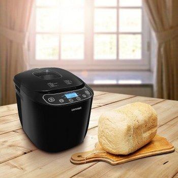 Хлібопічка Concept краща домашня хлібопічка з замісом на 12 програм для простого смачного хліба пирога, сендвіча, здоби, паски і паски. Чорна PC5510B