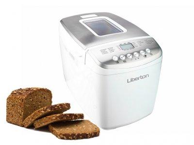 Хлібопічка Liberton краща домашня хлібопічка з замісом на 16 програм для простого смачного хліба, пирога, кексу, йогурту, здоби, паски, паски і джему. Біла LBM9216W