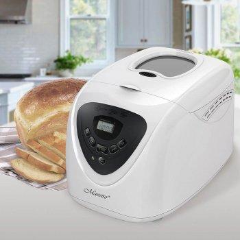 Хлібопічка Maestro краща домашня хлібопічка з замісом на 15 програм для простого смачного хліба, кексу, йогурту, здоби, паски, паски і джему. Біла MR750W