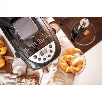 Хлібопічка Mesko краща домашня хлібопічка з замісом на 16 програм для простого смачного хліба, кексу, йогурту, здоби, паски, паски і джему. Чорна MS6022B