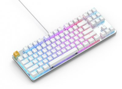 Клавіатура дротова Glorious GMMK TKL Gateron Brown USB White (GLO-GMMK-TKL-BRN-W)
