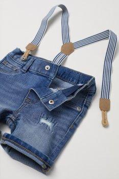 Шорти джинсові H&M 2502-5653117 Сині