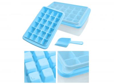 Форма для льда с контейнером и лопаткой Голубой 91-8725364