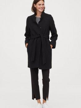 Пальто H&M 0787147-0 Черное
