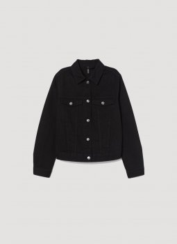 Джинсова куртка H&M 0829646-1 Чорна