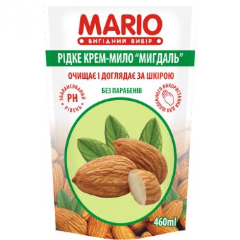 Жидкое крем-мыло MARIO 460мл (дой-пак) Миндаль