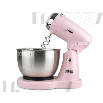 Миксер с чашей кухонный для дома для взбивания электрический стационарный ручной 3.2л 350W DSP (KM3034) Pink