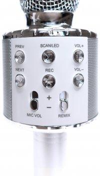 Bluetooth-мікрофон для караоке ITrendy з підсвіткою Сріблястий (UFTMK2LSilver) (4820176253941)