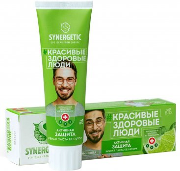 Паста зубная Synergetic активная защита 100 г (4640020877006)