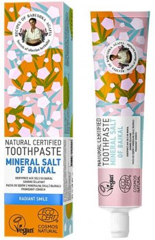Натуральная зубная паста Рецепты Бабушки Агафьи Минеральная соль Байкала 85 г (4743318102290)