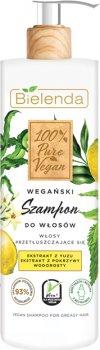 Шампунь Bielenda 100% Pure Vegan Веганский для жирных и тонких волос и сухих кончиков 400 мл (5902169039431)