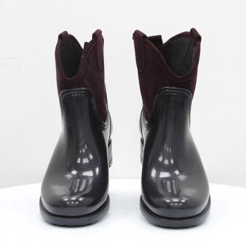 Резиновые сапоги Mida бордово-черные 52582