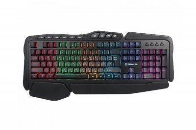 Клавіатура REAL-EL Gaming 8900 RGB Macro Black USB