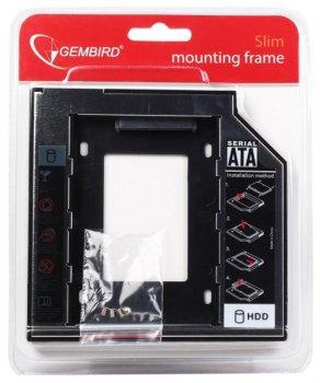 """Адаптер HDD 2.5"""" для ноутбука відсік CD-ROM Gembird MF-95-02 12.5 мм"""