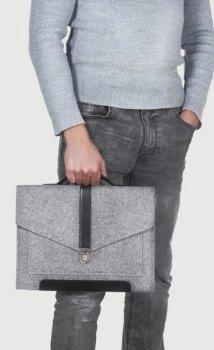 Фетровий чохол-сумка Gmakin для MacBook Air/Pro 13.3 сірий з ручками (GS11) Gray