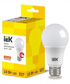 Лампа LED ALFA A60 куля 10Вт 230В 3000К E27 IEK (LLA-A60-10-230-30-E27)