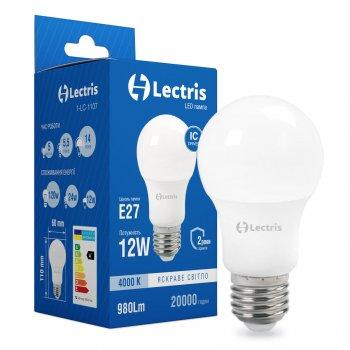 Світлодіодна лампа Lectris A60 12W 4000K 220V E27 1-LC-1107