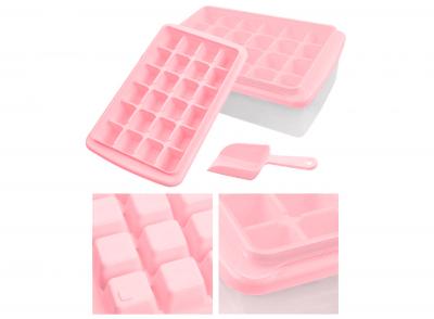 Форма для льоду з контейнером і лопаткою Рожева 91-8725363