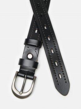 Женский кожаный ремень Laras CV10ZK-078-black Черный (ROZ6400031930)