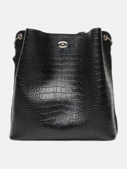 Жіноча шкіряна сумка Palmera 10l981-black Чорна (ROZ6400031886)
