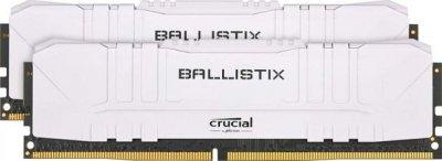 Оперативна пам'ять Crucial 16 GB (2x8GB) DDR4 3200 MHz Ballistix White (BL2K8G32C16U4W)