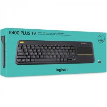 Бездротова клавіатура Logitech Touch K400 Plus Black UKR (920_007147)
