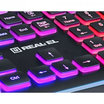 Дротова клавіатура Real_El 8000 Comfort Backlit USB (EL123100033)
