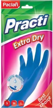 Рукавиці гумові Paclan Extra Dry S (4650086015212)
