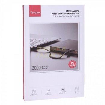 Power Bank для ноутбука Yoobao PD65W 30000 mAh Black
