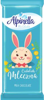 Упаковка шоколада Alpinella Easter молочного 90 г х 25 шт (5900915022713)