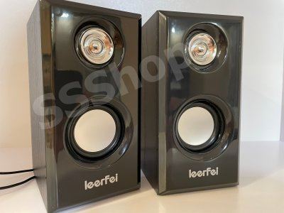 Компьютерные колонки c регулировкой звука Leerfei D-092 Black от USB