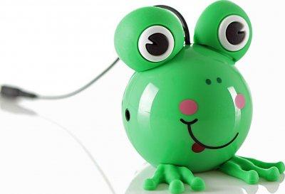 Портативна акустика KitSound Mini Buddy Frog Jack Жабка Зелений