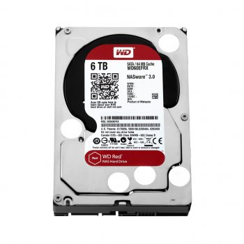 Накопичувач HDD SATA 6.0TB WD Red 5400rpm 64MB (WD60EFRX)