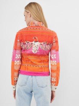 Джинсовая куртка Desigual 71E2JC9/3064 Оранжевая