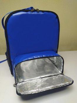 Терморюкзак Dolphin для доставки еды, суши, пиццы под коробку 32х32. Каркас. ПВХ. Синий