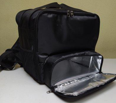 Терморюкзак Dolphin для доставки еды, суши, пиццы под коробку 32х32. Чёрный