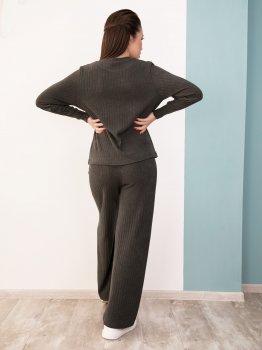 Костюм (кофта + штани) ISSA PLUS 12531 Сірий