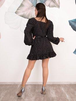 Плаття ISSA PLUS SA-125 Чорне з білим