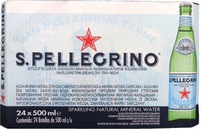 Упаковка минеральной газированной воды S.Pellegrino 0.5 л х 24 бутылки (8002270023606)