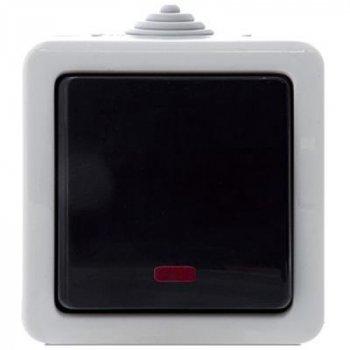 Выключатель REAL-EL Выключатель одинарный с индикатором (Storm-72011L)
