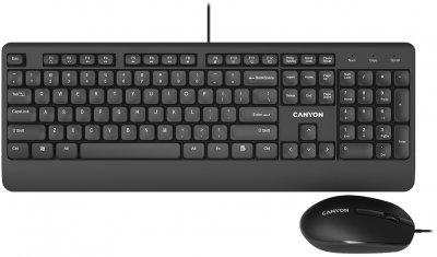 Комплект дротовий Canyon SET-14 USB Black (CNE-CSET4-RU)