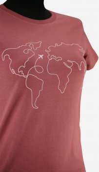 Футболка Sol's Regent Fit Women World Map 02758170/104 Древний розовый
