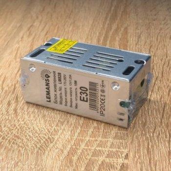 "Блок питания металл для светодиодной ленты 15W 12V 1,25A IP20 70*39*31mm ""LEMANSO"" LM828"