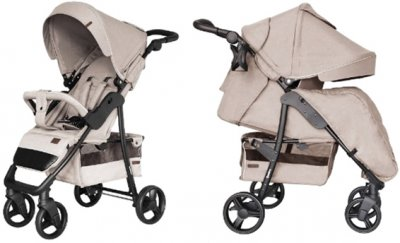 Прогулянкова коляска Carrello Quattro CRL-8502/3 + москітна сітка Frost Beige (CRL-8502/3 + M frost beige)