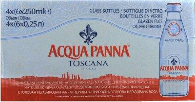 Упаковка минеральной негазированной воды Acqua Panna 0.25 л х 24 бутылки (8002270057625)